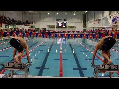MAAC Swimming And Diving Pump Up   Bryant University