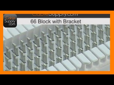 How to punch down a 25 pair cable to a 66 block - YouTube