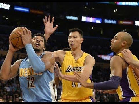 Yi Jianlian Highlights 2016-10-07 Preseason Nuggets VS Lakers