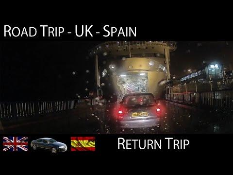 Road Trip Spain to UK - Return Trip (Via Santander-Plymouth Ferry) Time Lapse