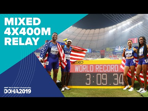 Mixed 4x400m Relay Final   World Athletics Championships Doha 2019