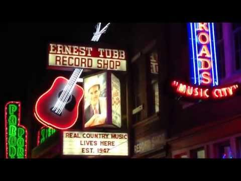 MINI CLIP OF THE SHOPS & BARS NEAR NASHVILLE'S WORLD FAMOUS MUSIC ROW AREA IN NASHVILLE, TENNESSEE.