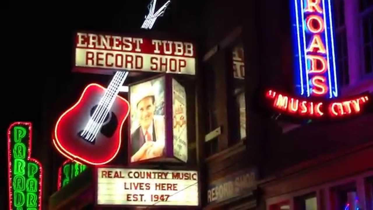 MINI CLIP OF THE SHOPS & BARS NEAR NASHVILLE'S WORLD FAMOUS MUSIC ROW AREA IN NASHVILLE, TE