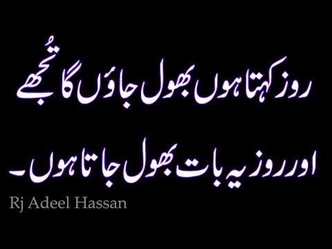 Two Line Sad Heart Touching Poetry Rj Adeel Hassan Urdu_Hindi Shyari  Kavita sms poetry Sad Poetry-