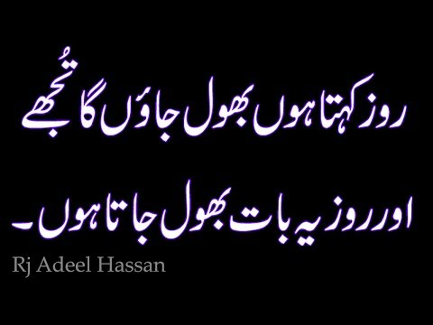 Two Line Sad Heart Touching Poetry|Rj Adeel Hassan|Urdu_Hindi Shyari| Kavita|sms poetry|Sad Poetry-