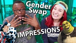 GENDER-SWAP IMPRESSIONS CHALLENGE ft. BLACK NERD