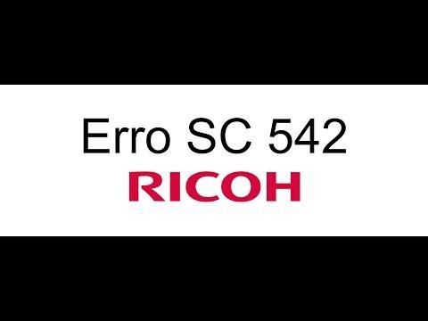 Erro SC 542 Impressoras Ricoh