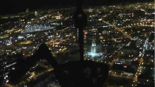 夜のロサンゼルスの摩天楼へアプローチ Nigtht Flight Training in LAX Downtown