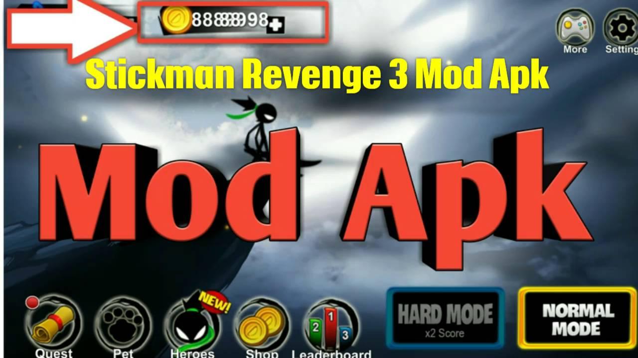 download game stickman revenge 3 cheat apk mod