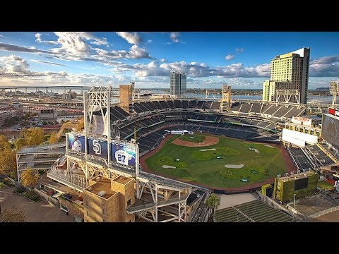 Petco Park has been turned into an awesome golf course