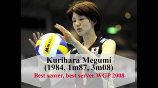 Kurihara Megumi (1984, 1m87, 3m08) Best Sever, Best scorer world gr...
