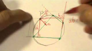 Construir rectángulos equivalentes de 1 vértice común e incidentes en lados de cuadrilátero inscrito