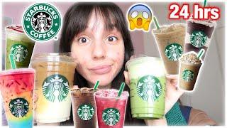Πίνω μόνο ροφήματα από τα Starbucks για 24 ώρες | Marianna Grfld