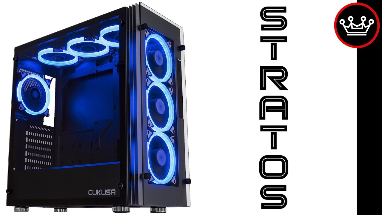 Cuk Stratos Best Value Rgb Pc Gaming Case 2017 Youtube