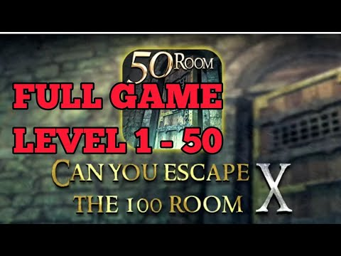 Can You Escape The 100 Room X FULL GAME Level 1 - 50 Walkthrough