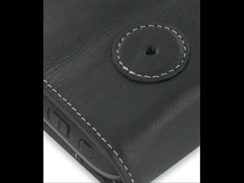 PDair Leather case for HTC Panda/HTC P6300 - Flip (Black)