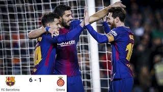 Video Season 2017/2018. FC Barcelona - Girona FC - 6:1 download MP3, 3GP, MP4, WEBM, AVI, FLV November 2018