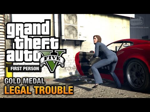 GTA 5 - Mission #66 - Legal Trouble [First Person Gold Medal Guide - PS4]