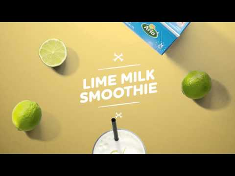 How to make a Lime Milk Smoothie - YouTube