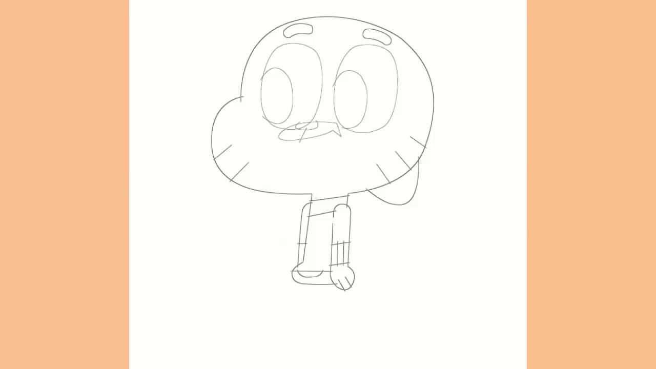 تعلم رسم شخصيات كرتونيه غامبول Learn To Draw Cartoon Characters