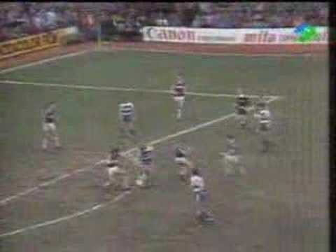 Clive Allen goal for QPR at West Ham,March 1984