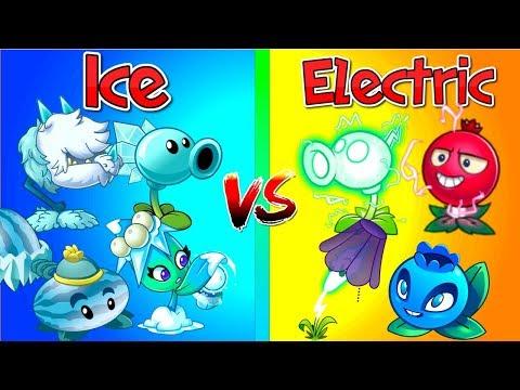 Plants vs Zombies 2 Every Electric Plants vs Ice Plants BIG Challenge in Best Plantas