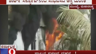 Fire Breaks out at a Plastic Factory in Dapoda Village Mumbai