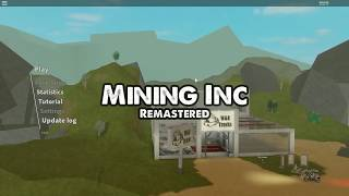 Playing mining inc remastered Roblox episode 169