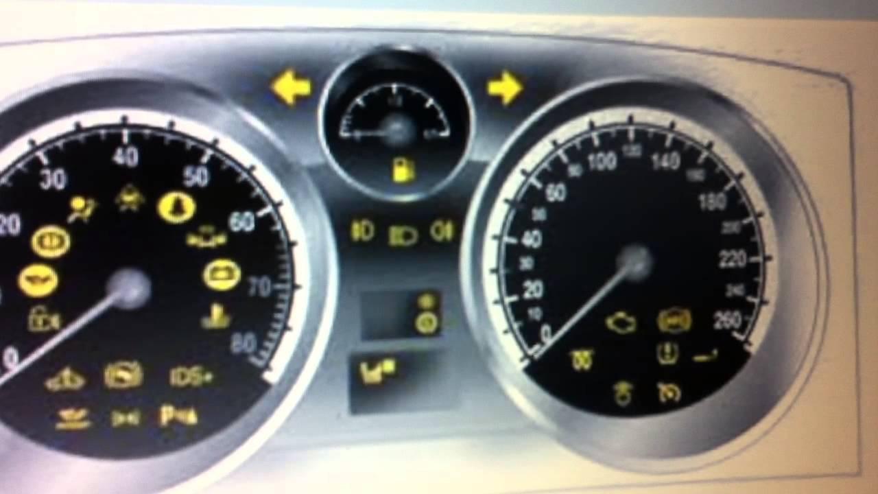 Vauxhall Zafira Dashboard Warning Lights Symbols