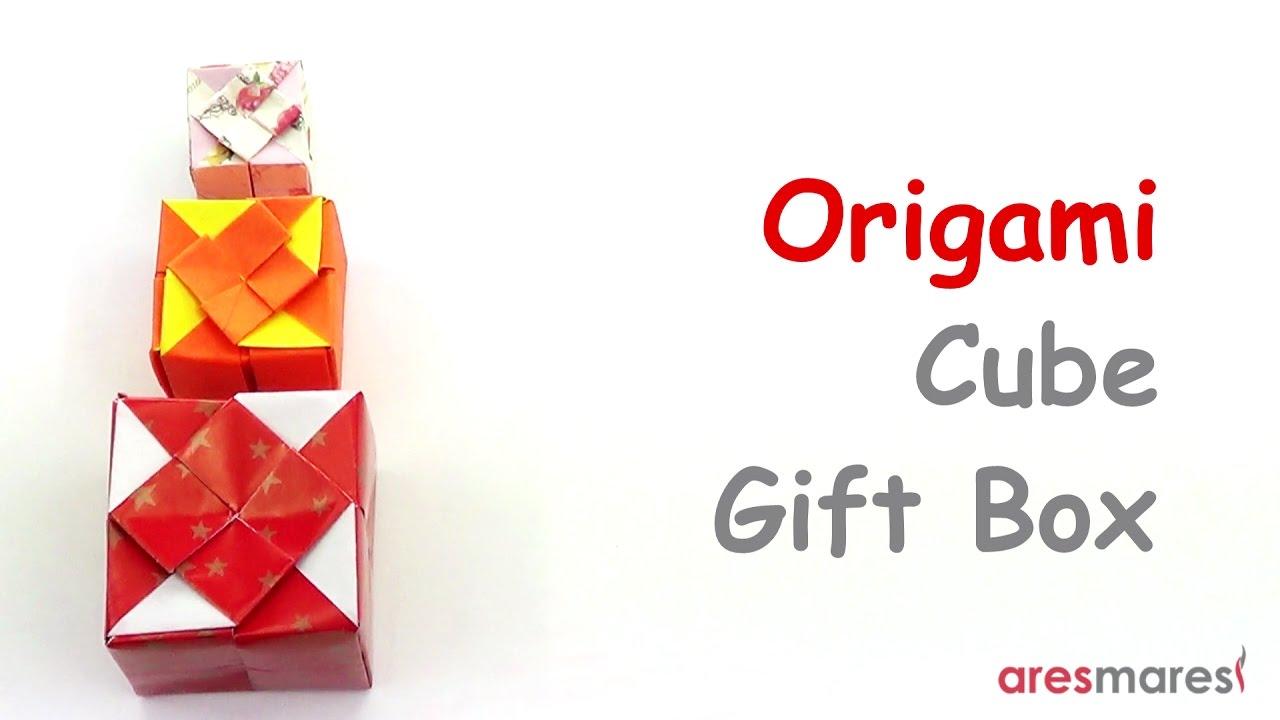 Origami cube gift box intermediate single sheet youtube origami cube gift box intermediate single sheet jeuxipadfo Image collections