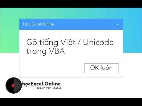 Đánh tiếng Việt trong VBA, msgbox hỗ trợ tiếng việt