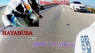 Hayabusa (gsxr1300) vs Bmw 525 xDrive (Hayabusa top speed - best acceleration)