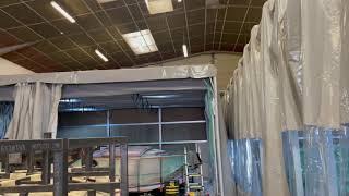 Cabine peinture rétractable pour bateau et catamaran
