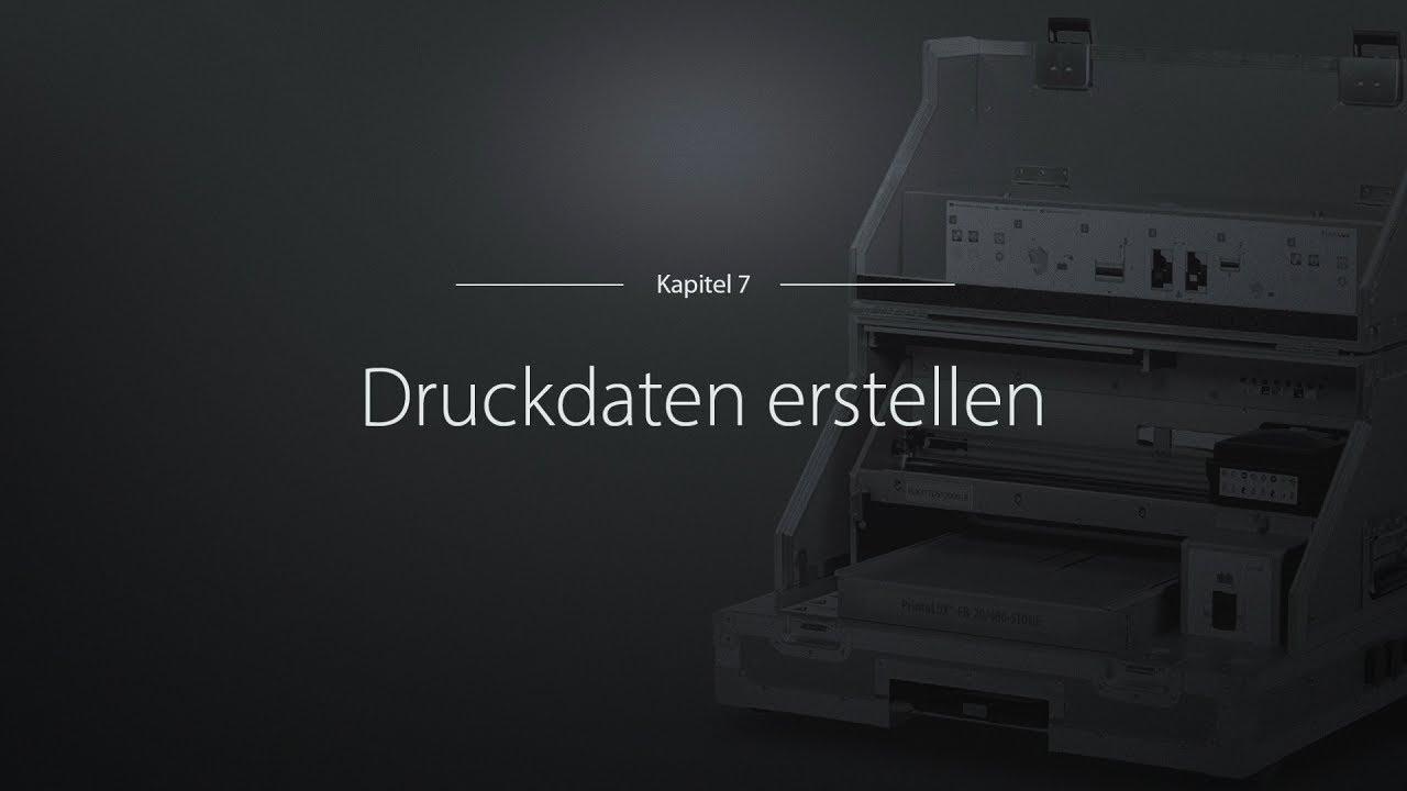 Printolux Verfahrensschulung Kapitel 7 Druckdaten Erstellen