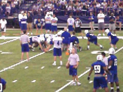 Colts first practice of season 2010