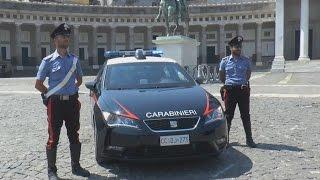 """Napoli - I Carabinieri presentano le nuove """"gazzelle"""" Seat Leon -live- (08.08.15)"""