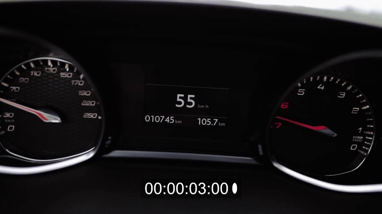 peugeot 308 gti acceleration | przyspieszenie | 0-100 - youtube