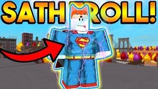 SATHOPIAN (GAME CREATOR) DISGUISE TROLL! | ROBLOX: Super Power Training Simulator