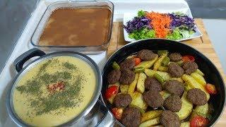 45 Dakikada 4 Çeşit İftar Menüsü/Ana Yemeği/Salatası/Çorbası/Tatlısı İle Kolay Menü Tarifi
