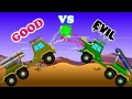 Missile Launcher War | Good Vs Evil | Scary Street Vehicles | Videos For Kids