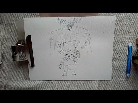 Dibujando a Tony Tony Chopper |