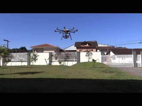 Octocopter Cinestar + Gimbal 5D + Spektrum DX8 + WKM - First Flight
