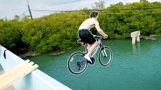 Jumping Bike Off A Bridge!
