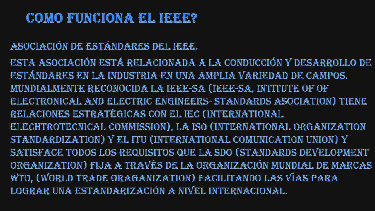 estandares IEEE - YouTube