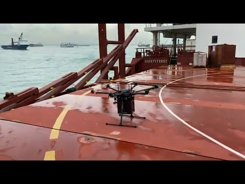 F-drones' first maritime drone deliveries