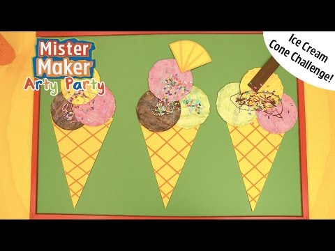 Ice Cream Arty Challenge! | Arty Party | Mister Maker