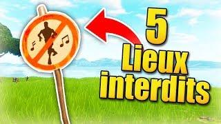 5 LIEUX INTERDITS DANS  FORTNITE