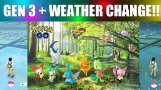 Generation 3 Released + Weather Change in Pokemon Go!
