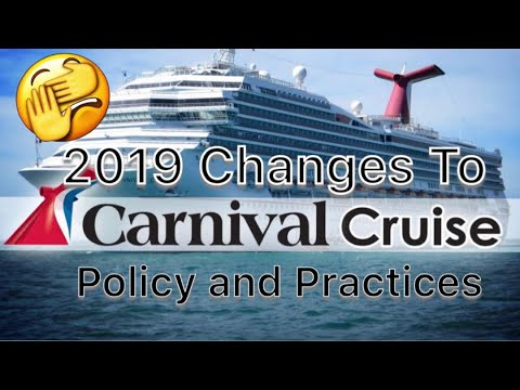 Carnival Cruise 2019 Updates And Changes.