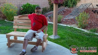 How to make a Park Bench with a Reclined Seat Ver. 3